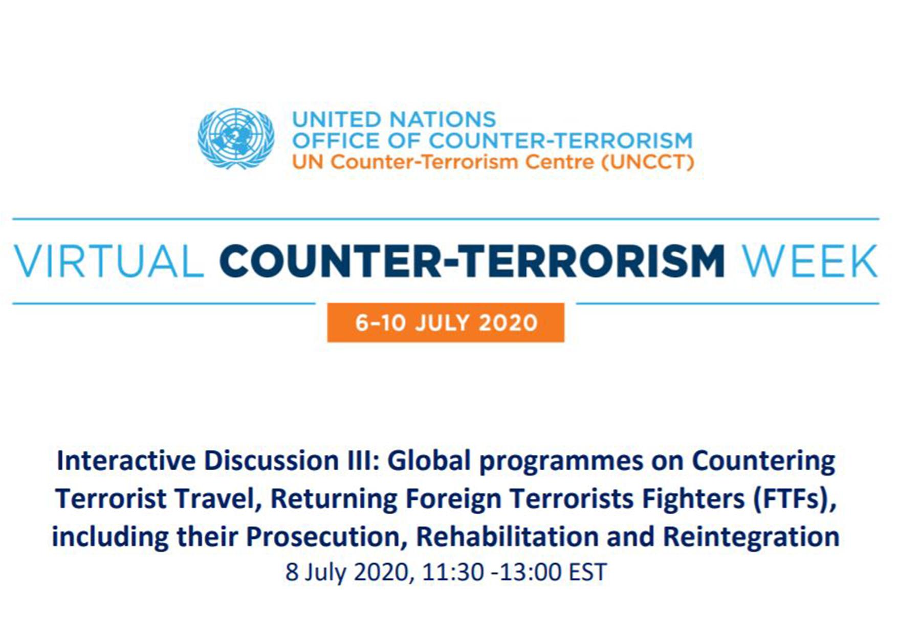 UNOCT 2020 Virtual Counter-Terrorism Week