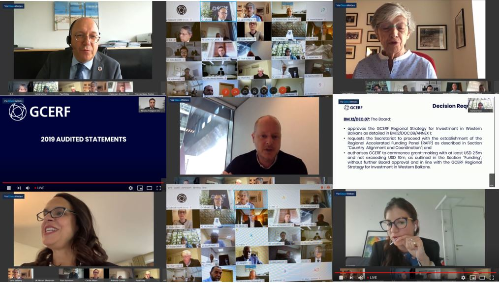 12th Board Meeting, 28 May 2020, 8 – 9 June 2020, Virtual Sessions